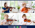 Social distancing with a Zoom call